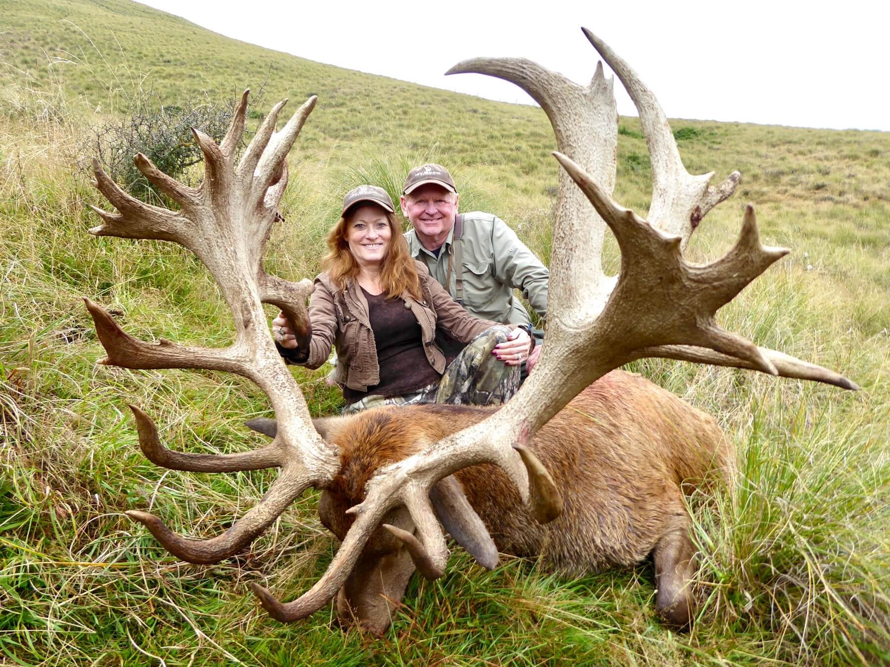 420 inch New Zealand Red Stag Hunting trophy