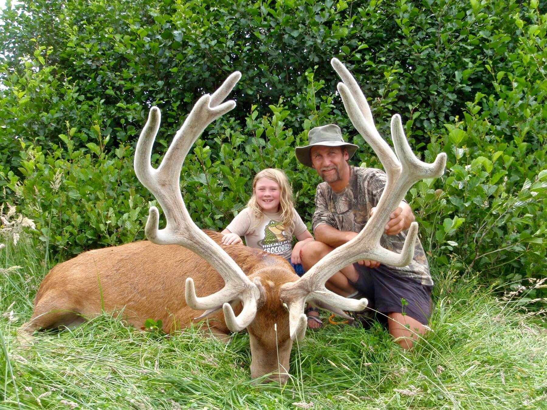 free range stag with kids