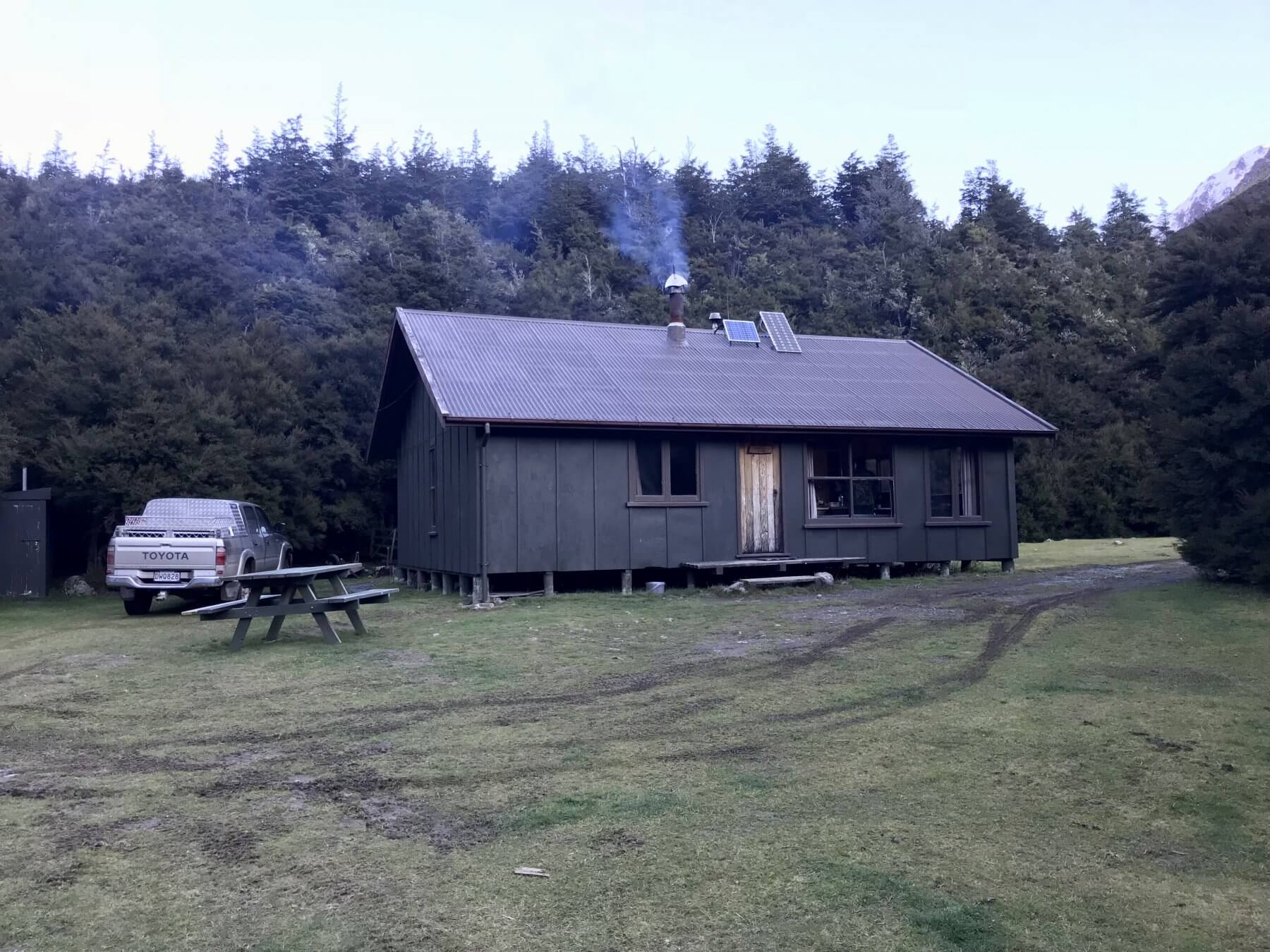 new zealand hunting cabin
