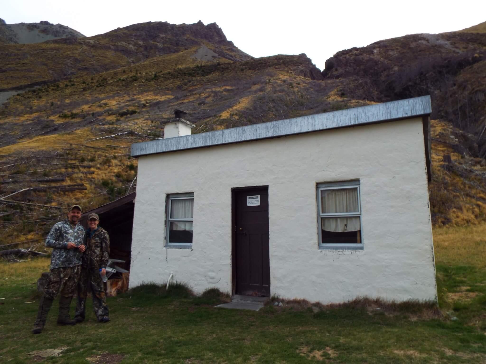 New Zealand Safaris Tiny Hunting Cabin