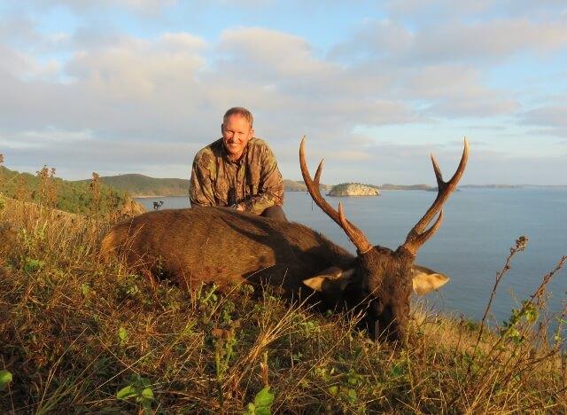 Sambar Deer Hunting on water