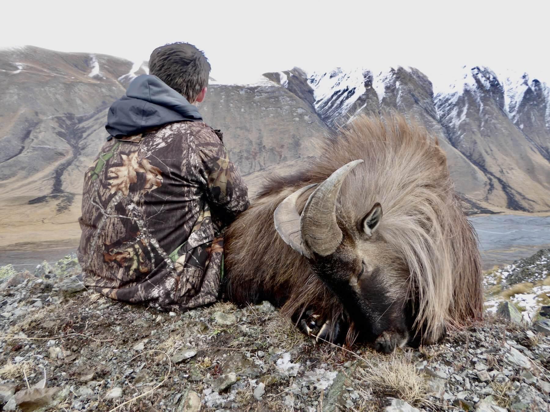 Tahr hunting 13 inch 6 yr old