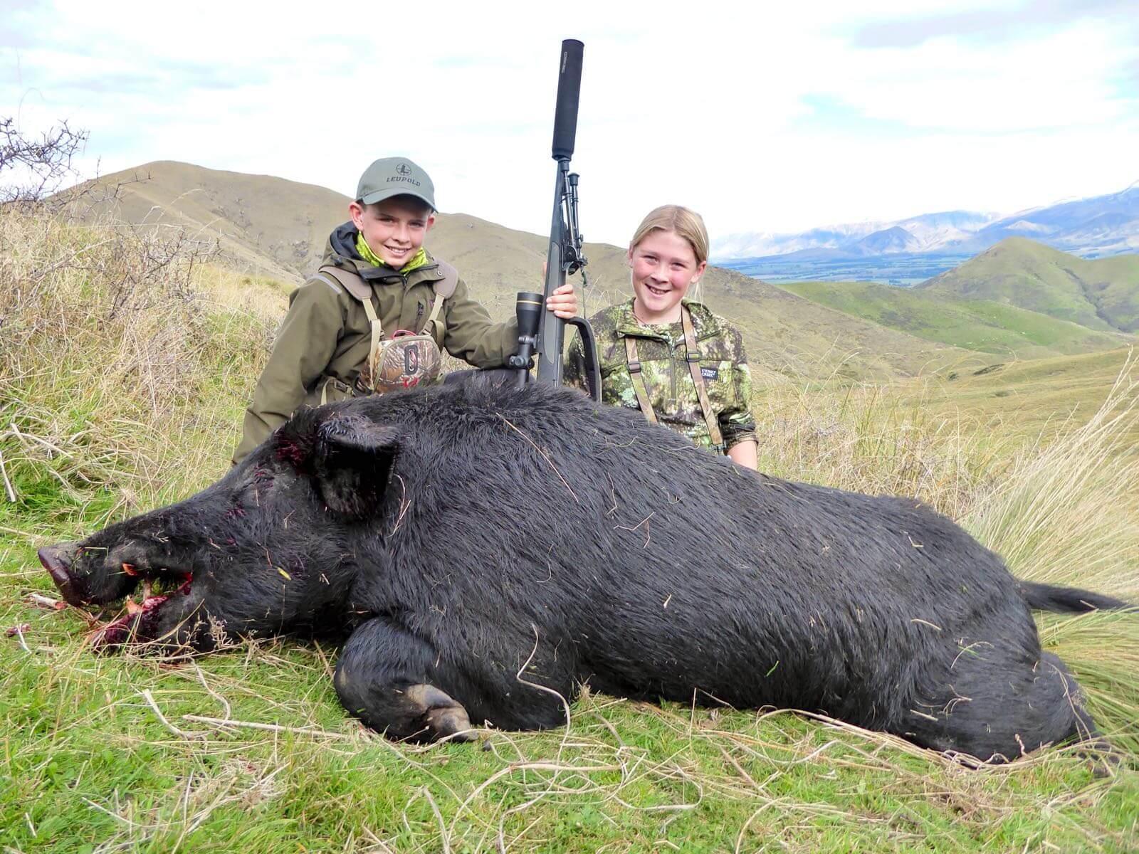 Kids Wild Boar Hunting Trophy