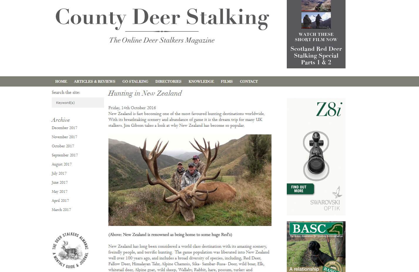 county deer stalker magazine image